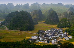 Guizhou scenery. China southwest Guizhou mountian scenery stock image