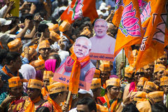 Gujarat Chief Minister and BJP prime ministerial candidate Narendra Modi Royalty Free Stock Images