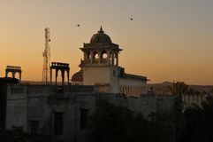 Gujarat: Sunrise view from the Heritage Hotel in Poshina royalty free stock photos