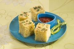 Gujarati Khaman Dhokla Royalty Free Stock Photography
