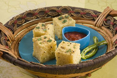 Gujarati Khaman Dhokla Stock Images