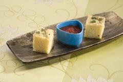 Gujarati Khaman Dhokla Royalty Free Stock Images