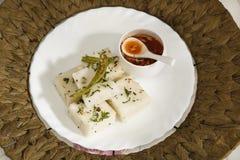 Gujarati Khaman White Dhokla Royalty Free Stock Image