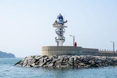 Gujora Hang South Breakwater Beacon foto de stock royalty free