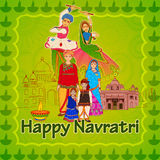 Gujrati people wishing Navratri Dussehra festival Stock Photo