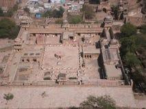 Gujri宫殿瓜廖尔堡垒印度 免版税库存照片