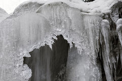 Guk瀑布在冬天 免版税库存照片