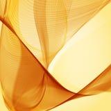 Gul abstrakt bakgrund. Royaltyfria Bilder