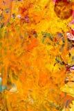 Gul abstrakt målning Royaltyfria Foton