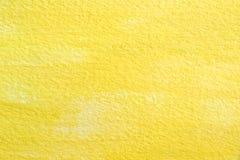 Gul akryl på pappers- textur Royaltyfri Fotografi