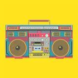 Gul bärbar ljudsignal högtalare - musikvektorillustration Royaltyfria Bilder