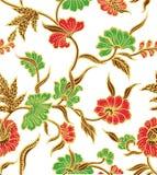 Gul batik Royaltyfri Foto