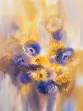 Gul blå sommar blommar buketten Royaltyfria Foton