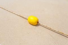 Gul boj på stranden Royaltyfri Fotografi