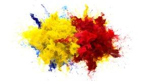 Gul bristning för röd färg - åtskillig färgrik matte för alfabetisk för rökexplosionvätska vektor illustrationer