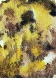 Gul brun bakgrund för vattenfärg vektor illustrationer