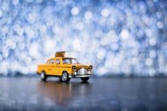 Gul cab Royaltyfria Foton