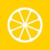 Gul citronillustration Fotografering för Bildbyråer