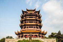 Gul Crane Tower tempel i Kina Royaltyfria Bilder