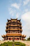 Gul Crane Tower tempel i Kina Arkivbilder