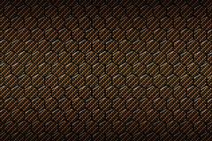 Gul eller guld- modell för kolfibersexhörning stock illustrationer