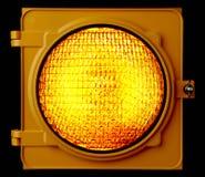 gul exponerad ljus trafik Arkivfoton