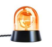 Gul exponerande lampa Fotografering för Bildbyråer