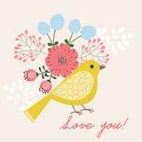 Gul fågel Royaltyfria Bilder