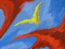 Gul fågel Arkivfoto