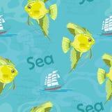 Gul fisk Arkivfoton