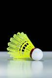 Gul fjäderboll Arkivfoton
