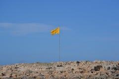 Gul flagga Royaltyfria Foton