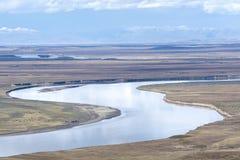 Gul flod royaltyfri fotografi