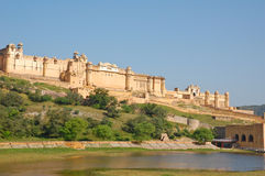 gul fort india Arkivfoton