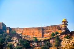 gul fort india jaipur Royaltyfri Bild