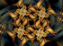 Gul fractalmodell Royaltyfria Bilder