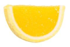 Gul frukt Jelly Isolated Fotografering för Bildbyråer