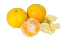 Gul frukt på vit med den snabba banan Arkivfoto