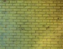 Gul gammal modell för textur för tegelstenvägg Royaltyfri Foto