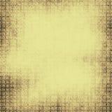 Gul geometrisk bakgrund grunge Arkivbild