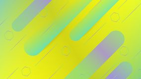Gul & grön abstrakt bakgrund med moderiktiga former, minsta bakgrund vektor illustrationer