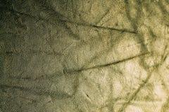 Gul guld minted skinande tygtextur för tappning, abstrakt bakgrund Arkivfoto