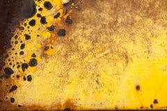 Gul guld Rusty Brown Background Texture Royaltyfri Bild