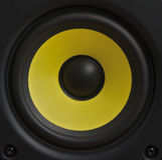 Gul högtalarekotte Arkivbild