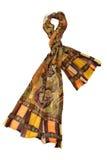 Gul halsduk med blom- design Royaltyfri Fotografi