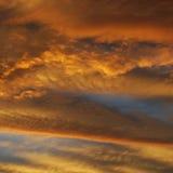 Gul himmelsolnedgång Arkivbilder