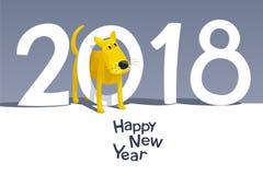 Gul hund 2018 Fotografering för Bildbyråer