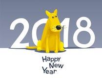 Gul hund 2018 Royaltyfri Bild