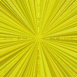 Gul hypnotisk abstrakt bakgrund för stjärnabristningsband Stock Illustrationer
