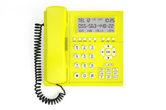Gul IP-telefon stock illustrationer